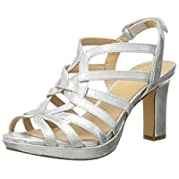 Naturalizer Womens Flora Leather Open Toe Casual, Silver Metallic, Size 4.0 US / 2 UK US