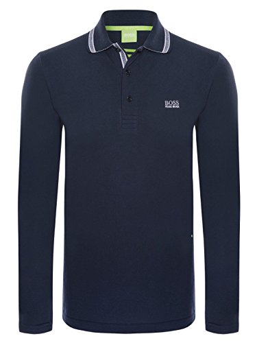 Hugo Boss - Herren Langarm Paddy Polo-Shirts in Verschiedenen Farben und Größen Navy Blau
