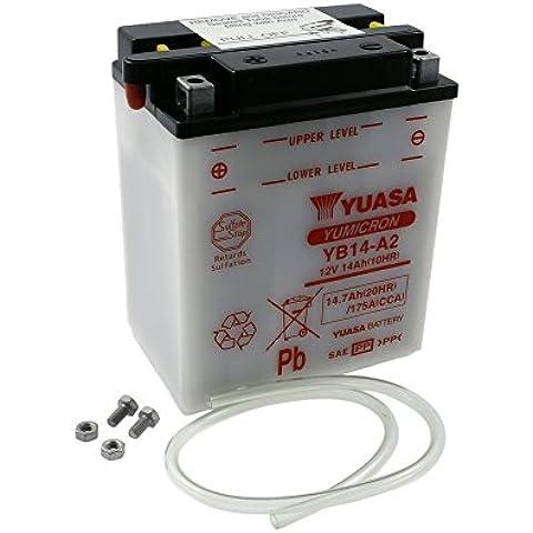 Batteria YUASA - YB14-A2 per ARCTIC CAT TRV400 400 ccm anno -09