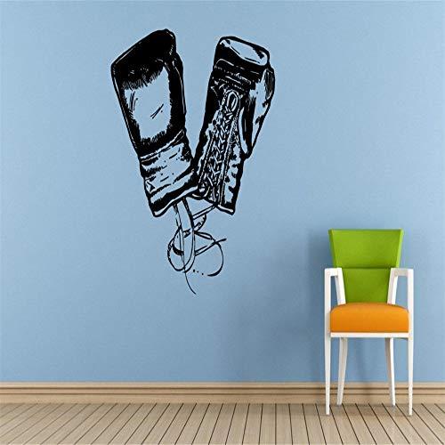 Boxen Boxer Handschuhe Art Wall Decal Paar Boxhandschuhe Silhouette Home Wohnzimmer Dekor Wandaufkleber Sport Martial Poster 42 * 47cm (Brautkleid-box Großes)