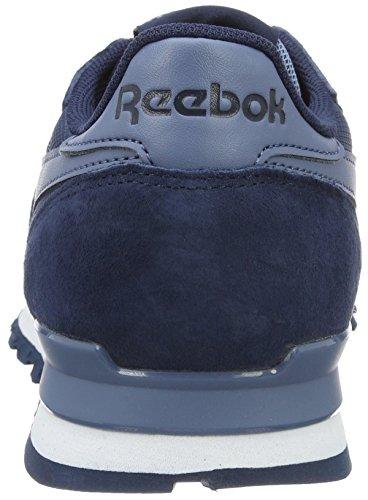 Reebok Classic Leather Clip Ele, Scarpe da Ginnastica Basse Uomo Blu (blue Peak/collegiate Navy/blue Slate)
