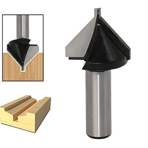 WSOOX V-Nutfräser mit 1/2-Zoll-Schaft, Holzbearbeitung Abschrägungsschneider Crumb-board