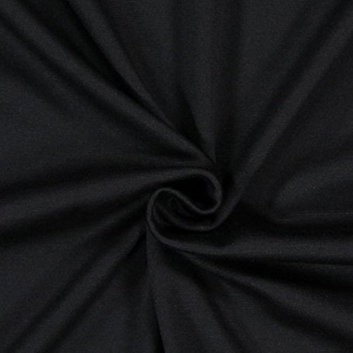 Fabulous Fabrics Romanit Jersey schwarz - Weicher Jersey Stoff zum Nähen von Kleider, Leggings, Shirts & Tuniken - Meterware ab 0,5m (In Schwarz Und Silber, Stoff)