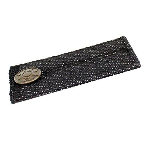 Gazechimp Bunderweiterung Hosenerweiterung Rockerweiterung Hose Rock Hosenverschlüsse Metall Knopf für Damen Herren - Schwarz