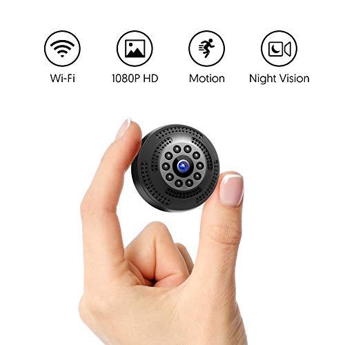 Victure Mini Kamera FHD 1080P,Tragbare kleine WLAN Überwachungskamera,Nanny Cam mit Bewegungserkennung und Infrarot Nachtsicht,Aufnahme während des Ladevorgangs,Wireless Weitwinkel Kamera