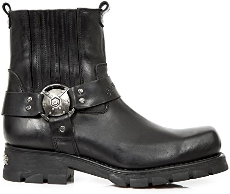 New Rock Boots M.7605 S1 Urban Biker Rock Herren Stiefelette SchwarzNew Rock Boots M 7605 S1 Stiefelette