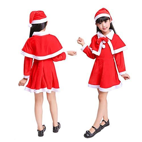 ostüm Weihnachten Kinder Kleidung WEIHNACHTSKOSTÜME für Jungen und Mädchen-Weihnachtsmann-Kostüm ()