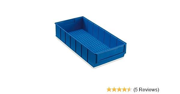 12 Industriebox Lagerbox Lagerkasten Universalbox 500x183x81mm blau