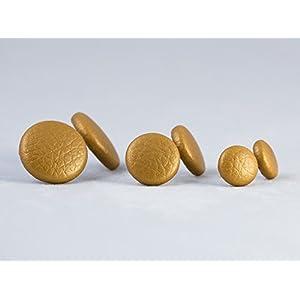 Ohrstecker Kunstleder - Gold - 1 Paar - Ohrringe Ohrring - Motley Bees
