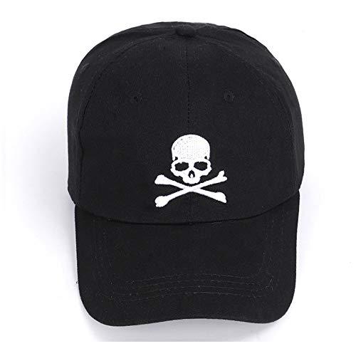 Imagen de wxtreme moda fresca calavera malla  de béisbol hombres mujeres hueso negro camionero  papá sombrero adulto verano hip hop sombrero ajustable lavado algodón sombreros sombreros sombrilla al a alternativa
