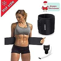 7de88f45e5b INTEY Bauchweggürtel Schwitzgürtel Neopren Bauchgürtel mit Maßband Waist  Trimmer Verstellbarer Fitnessgürtel zum Abnehmen und Muskelaufbau für