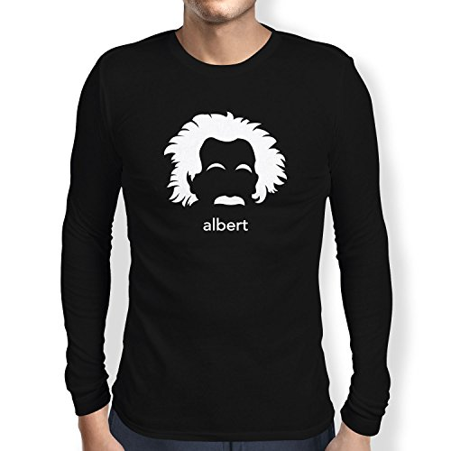 NERDO - Albert - Herren Langarm T-Shirt Schwarz