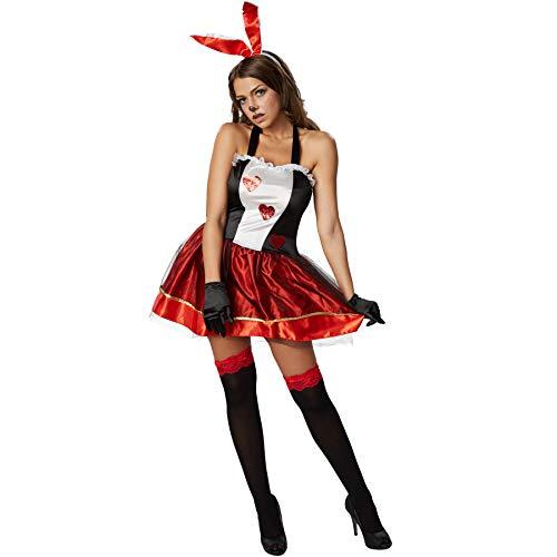 dressforfun 900477 - Damenkostüm Love Bunny, Verspieltes Hasenkostüm mit Neckholderoberteil (L | Nr. 302127)
