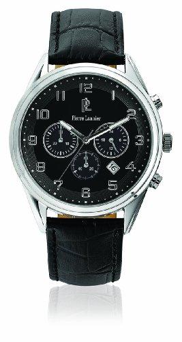 Pierre Lannier - Reloj Analógico de Cuarzo para Hombre, correa de Cuero color Negro