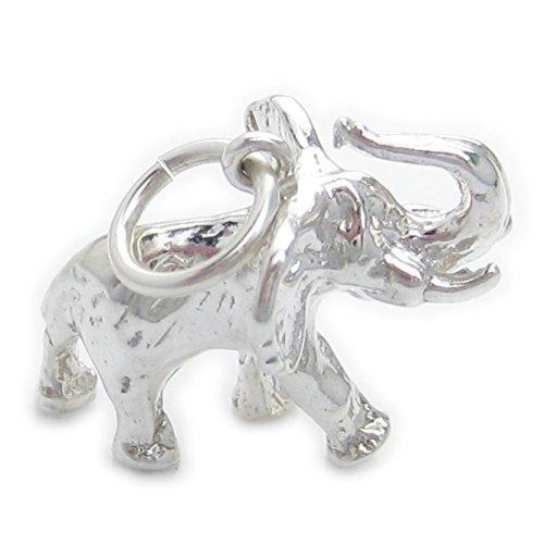 Diseño de elefante de plata de ley 925 para pulsera. 1 x...