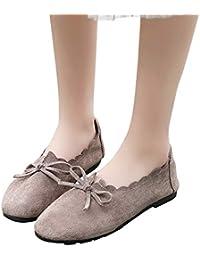Zapatos mujer talón plano, ❤️Sonnena Zapatos planos de tacón bajo de mujer Zapatos informales