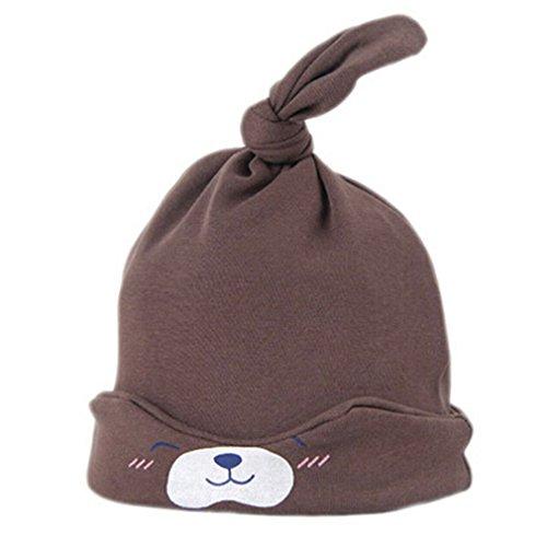 HENGSONG Nette Kind Baby Neugeborene Schlaf Hut Strick Beanie Mütze Kappe (Kaffee)