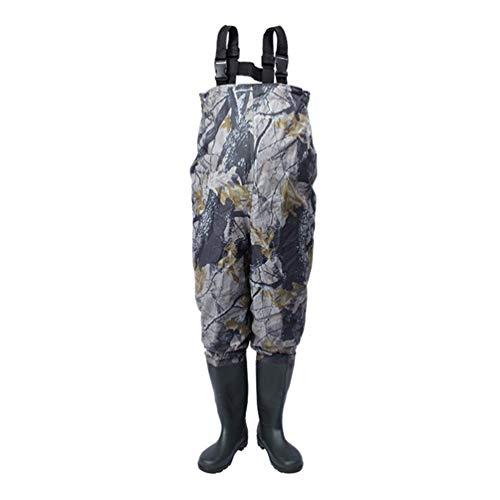 Sport Tent TentHome Wathose mit Stiefeln Anglerhose Camouflage Bis Brust Wasserdichter Watstiefel Angeln Teichhose Größe 38-47 (39)
