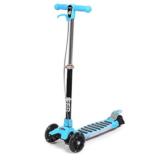cooshional Scooter für Kinder, Faltbarer Kickboard,Leicht Verstaubar Tretroller Blau/Rot/Orange