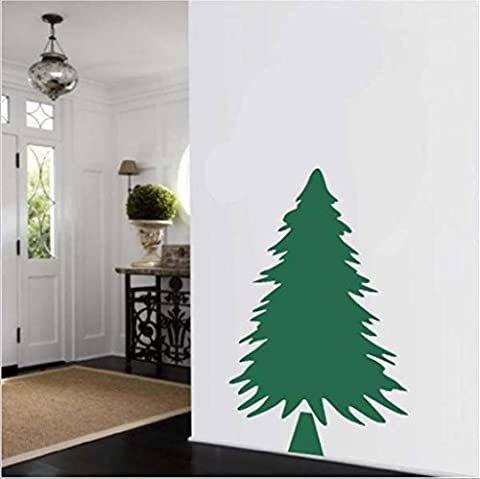 GYMNLJY Wand-Sticker Green Christmas Tree Wand Aufkleber PVC-abnehmbare Glas Aufkleber , 58*91cm
