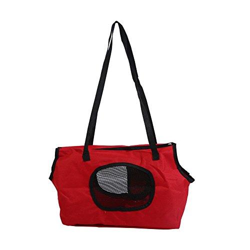 Bluelans atmungsaktiv klappbar und waschbar Kleine Hund Katze Pet Travel Carrier Tasche, rot, 36cm x 18cm x 24cm/14.17' x 7.09' x 9.45'