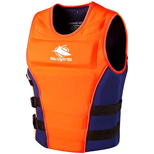Männer Schwimmweste Schwimmen Jacke - Erwachsener Neopren Badeanzug Bademode Schwimmanzug Schwimmhilfen Schwimmtraining Frauen Schwimmbad Tauchen Strand Surfen Orange