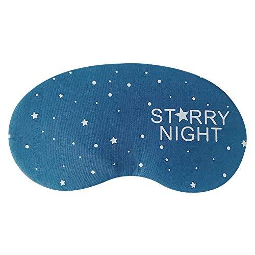 TREESTAR 100% Blackout Süßes Muster Augenmaske Brille Schlafmaske Aus Baumwolle Schlafmasken Einstellbar für Männer Frauen Kinder Reisen Arbeitet Schlafen (Eisbeutel)