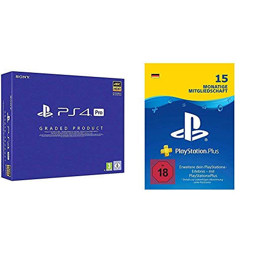 PlayStation 4 Pro (1 TB, Generalüberholt, A Chassis) + PlayStation Plus Mitgliedschaft: 15 Monate