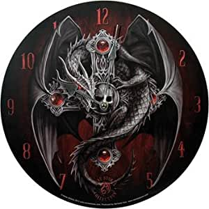 uhr gothic guardian engel angel figur drache uhr garten. Black Bedroom Furniture Sets. Home Design Ideas