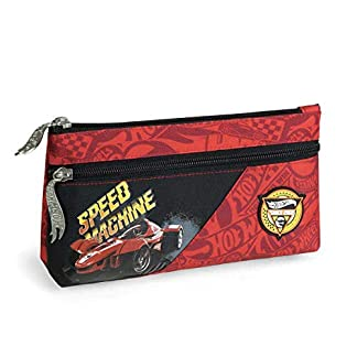 Mattel GmbH – Estuche Escolar Doble Hot Wheels