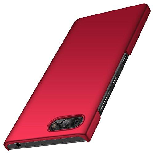 Design Blackberry (anccer BlackBerry Key2 LE Hülle, [Serie Matte] Elastische Schockabsorption und Ultra Thin Design für BlackBerry Key2 LE (Glattes Rot))