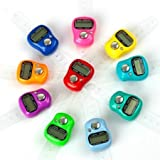#8: Skyfun 10 Pieces Mini Hand Tally Counter Finger Ring Digital Electronic Head Count, Japa Count