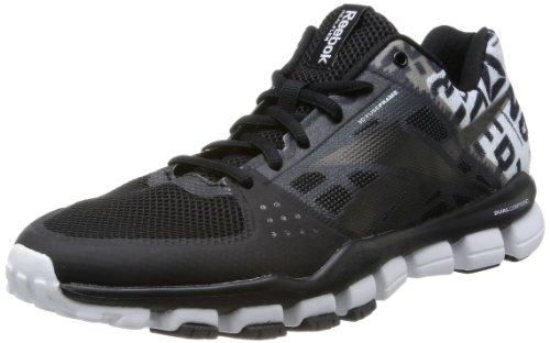 Reebok REALFLEX TRANSITION 4.0, Schuhe Sport-Mann, Schwarz - Schwarz (Schwarz/Weiß/Excellent Red) - Größe: 42 (2013 Schuhe Männer)