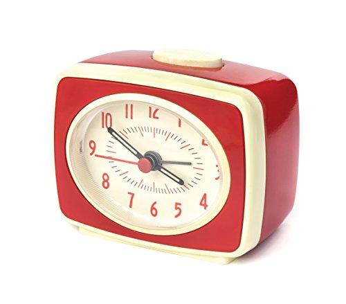 Kikkerland Despertador, Rojo, 9.8000000000000007 x 6.1 x 8.3000000000000007 cm