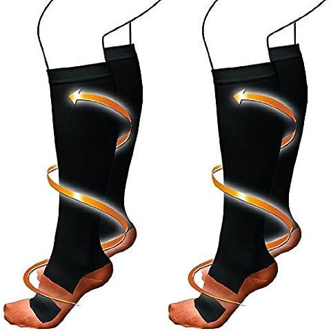 Askliy 6 Pares Medias de compresión Unisex Alivio de dolores,Recuperación más rápida, Evita la fatiga. Calcetines para Running Anti-Hinchazón y las venas varicosas de Enfermería
