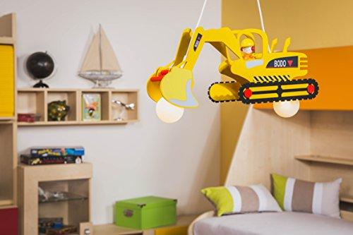 Elobra Kinder Lampe Pendellampe Bagger Mit Bodo Deckenleuchte Kinderzimmer  Holz, Gelb 128428 U2013 Smash G8.de