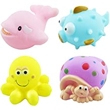 TOYMYTOY Juguetes para el baño Juguetes del Baño del Animal para Bebés Niños Set of 4