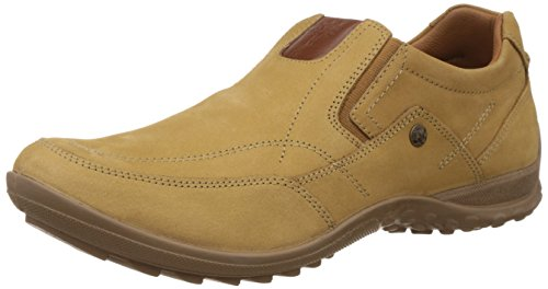Woodland Men's Camel Leather Loafers and Mocassins - 6 UK/India (40 EU)