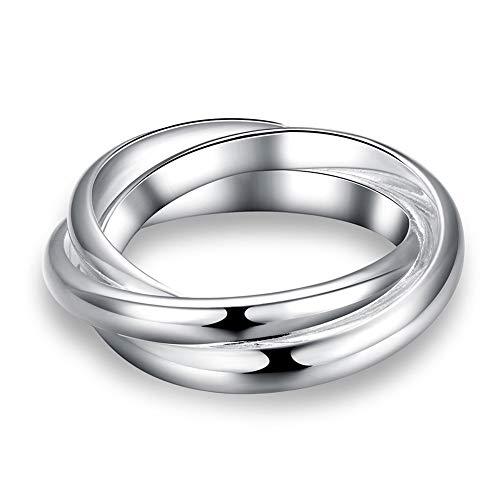 BQZB Ring Großhandel Herren Silber Ring Edlen Modeschmuck DREI Kreise Ringe Für Frauen Top Qualität