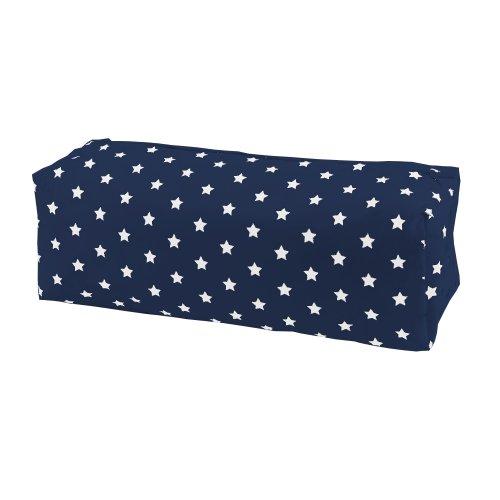 Sugarapple Feuchttücher Spender Box Überzug aus 100% Baumwolle 24 x 13 x 6 cm, Feuchttuchbox Bezug für gängige Pflegetücher Packungen, dunkelblau mit weißen Sternen
