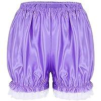 TiaoBug Mujer Chicas Bombachos Sueva Calabaza con Dobladillo Encaje Pantalones Medias de Chulo de Seguridad Elástica