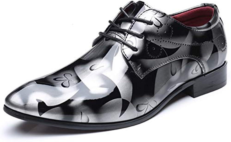 DAN Chaussures En Cuir Pour Hommes Chaussures Plates De En Grande Taille Chaussures Pour Hommes En De Cuir Verni Brillant... 00ae72