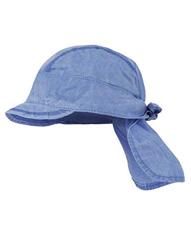 maximo Baby-Jungen Mütze Bandana mit Schild, Blau (Denim Blue 40), 49/51 (Denim Bandana Blue)