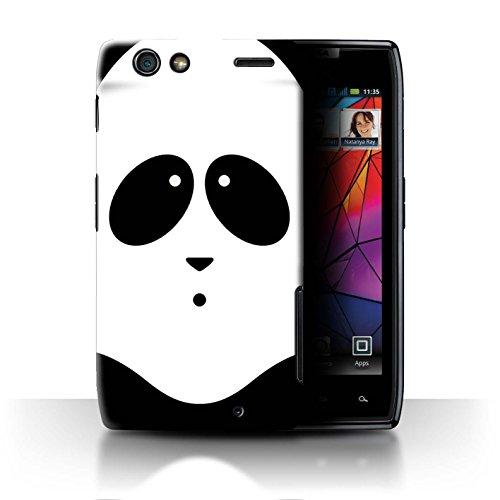 Stuff4® Hülle/Case für Motorola RAZR Maxx/Panda Muster/Animierte Tiergesichter Kollektion -