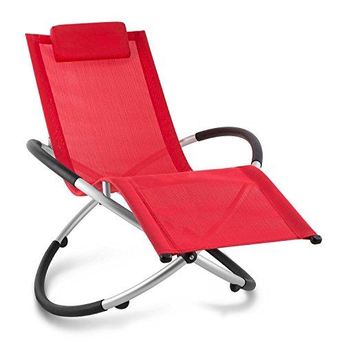 blumfeldt Chilly Billy ergonomische Relaxliege Liegestuhl Gartenstuhl Klappstuhl (Liege, 180 kg maximale Belastung, atmungsaktiv, witterungsbeständig, pflegeleicht, faltbar) rot