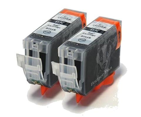 PGI5BK / PGI-5BK x2 Black Compatible Ink Cartridges with CHIP