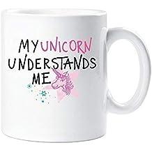 mi unicornio Me entiende amigo de San Valentín Regalo taza regalo de la novedad