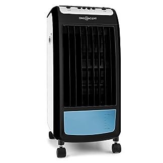 Oneconcept Caribbean Blue Dual Edition – Enfriador de Aire 3 en 1, Ventilador, Humidificador, Filtro de Polvo, 70W, 400m³/h, 4l