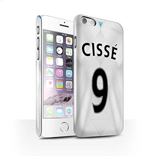Offiziell Newcastle United FC Hülle / Glanz Snap-On Case für Apple iPhone 6 / Coloccini Muster / NUFC Trikot Away 15/16 Kollektion Cissé