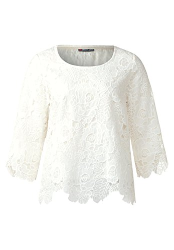 Street One - Chemisier - Uni - Manches 3/4 - Femme Off White